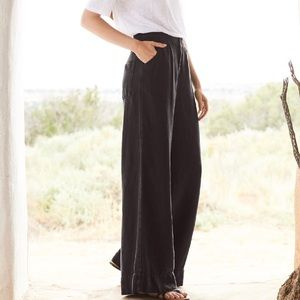 POETRY-wide leg, linen pants in taupe